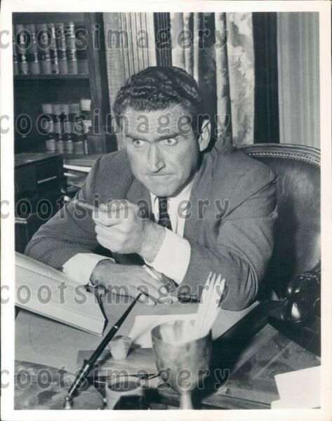 1960 Wire Photo Actor James Whitmore
