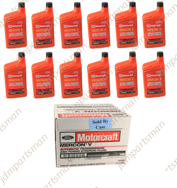 Motorcraft Mercon V ATF Transmission Fluid XT5QMC Case 12 Quarts Ford Vehicles