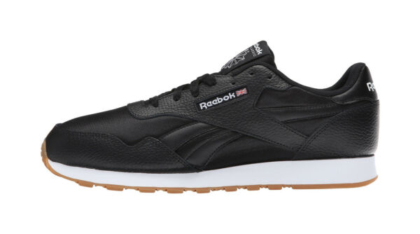 Reebok Men Shoes Royal Nylon Gum Black White Memory Foam Premier Comfort