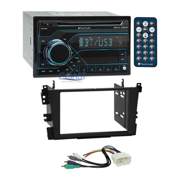 Planet Audio CD Bluetooth USB Stereo 2 Din Dash Kit Amp Harness for Acura TL CL