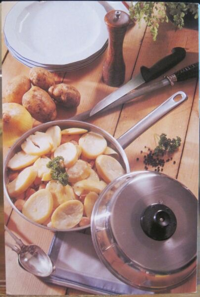 4x6 Postcard DUBLIN CODDLE Irish Recipe Pork Sausage Potatoes Onion Berwick Emo