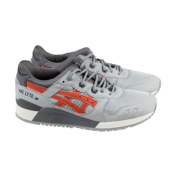Asics Gel Lyte III Mens Gray Mesh & Suede Lace Up Sneakers Shoes