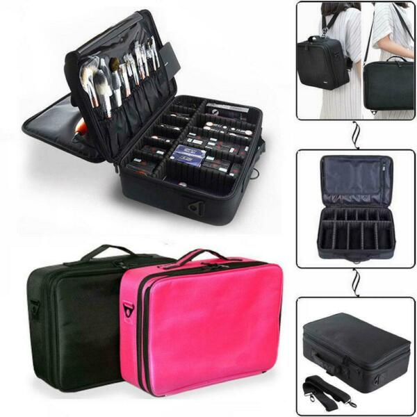 Professional Makeup Bag Cosmetic Case Storage Handle Organizer Travel Kit US NEW $24.99