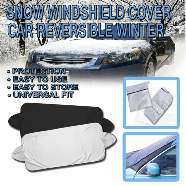 Zone Tech Car Windshield Snow Ice Cover Truck Ice Protector Sun Shield Pouch