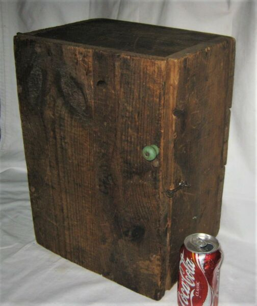 ANTIQUE COUNTRY PRIMITIVE HARDWARE FURNITURE SHELF WOOD BOX CABINET CUPBOARD USA
