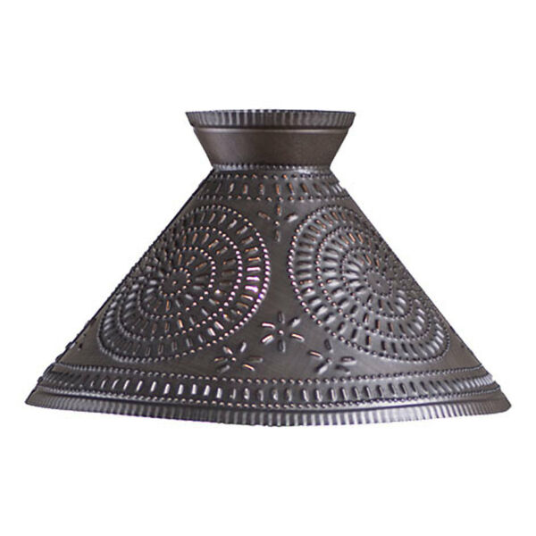 Roosevelt new Kettle Black punched tin design lamp shade