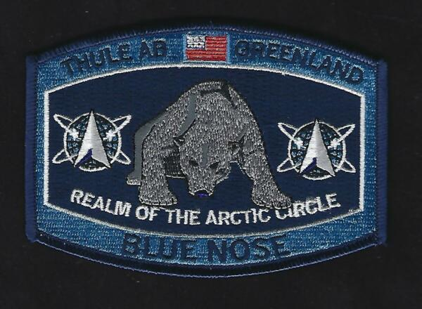 THULE AB GREENLAND HAT PATCH AFB US AIR FORCE PIN UP BLUE NOSE SPACE FORCE WOW $12.94