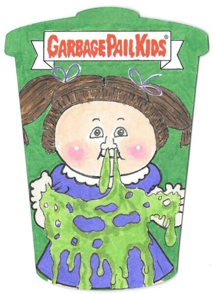 Topps 2017 Garbage Pail Kids MESSY TESSIE Diecut Sketch Card GPK Paul Mangione