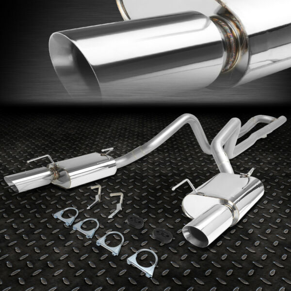 FOR 05-10 FORD MUSTANG 4.0 V6 STAINLESS STEEL CATBACK EXHAUST SYSTEM+MUFFLER TIP