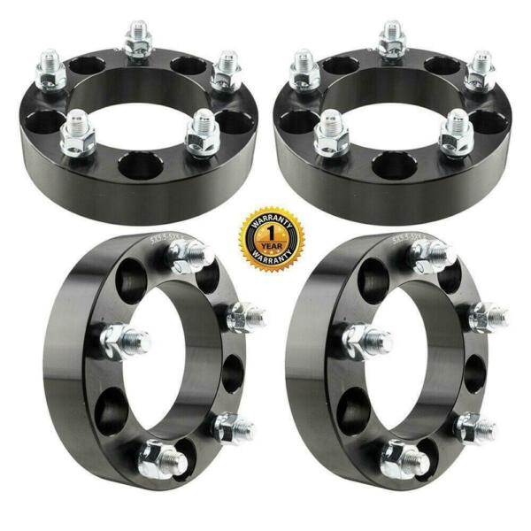 4pc 1.5 inch thick 5x5.5 Dodge Black Wheel Spacers 916