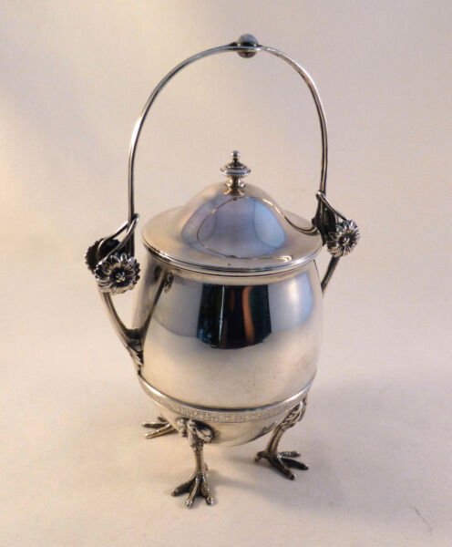 Great Early 1871 Gorham Sterling Chicken Leg Tea Caddy