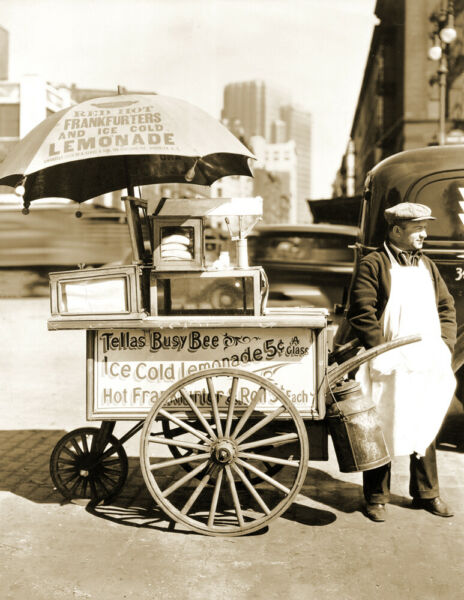 1936 Hot Dog Stand New York City NY Old Photo 8.5quot; x 11quot; Reprint $12.73