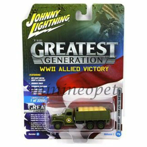 JOHNNY LIGHTNING JLCP7068 WWII ALLIED VICTORY MILITARY 1 64 1 87 GMC CCKW 6X6 $7.80