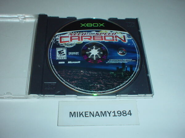 NEED FOR SPEED: CARBON game only in plain case for MICROSOFT XBOX $6.84