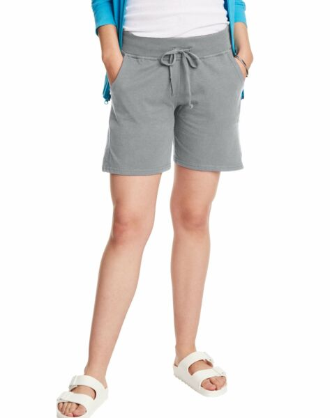 Hanes Womens Jersey Shorts w Pockets Drawstring Super Soft 100% Cotton 7