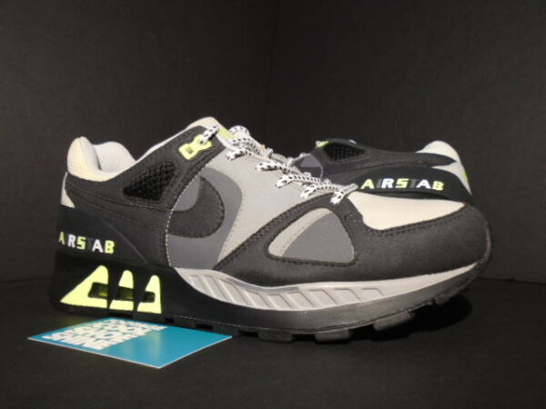 NIKE AIR STAB PREMIUM SIZE? DAVE WHITE MAX 1 CHARCOAL NEON YELLOW 445870-001 9
