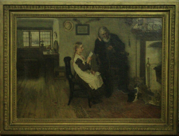 William Small (1843-1929) Oil on Canvas Dated 1873  Painting  Paint