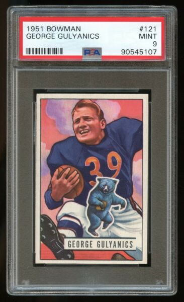 1951 Bowman #121 George Gulyanics *Bears* PSA 9 MINT #90545107