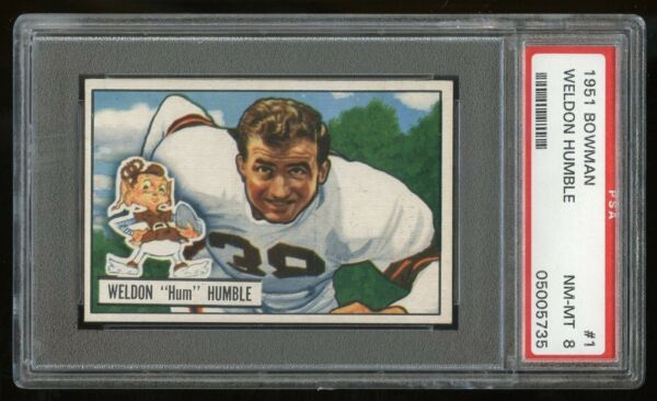 1951 Bowman #1 Weldon Humble *Browns* PSA 8 NM-MT #05005735