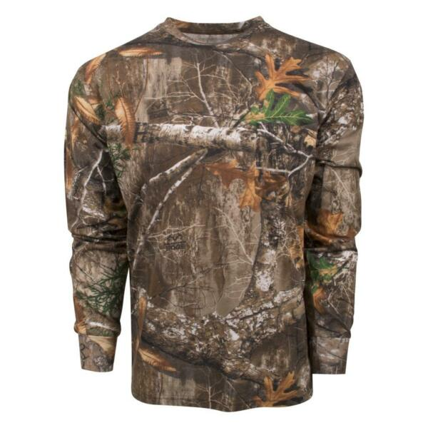 King#x27;s Camo Men#x27;s Realtree Edge Classic Cotton Long Sleeve Shirt All Sizes $18.99