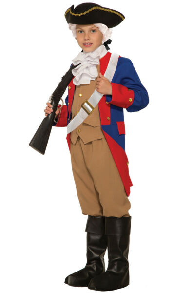 Patriotic Soldier Colonial Revolutionary War Child Costume Small