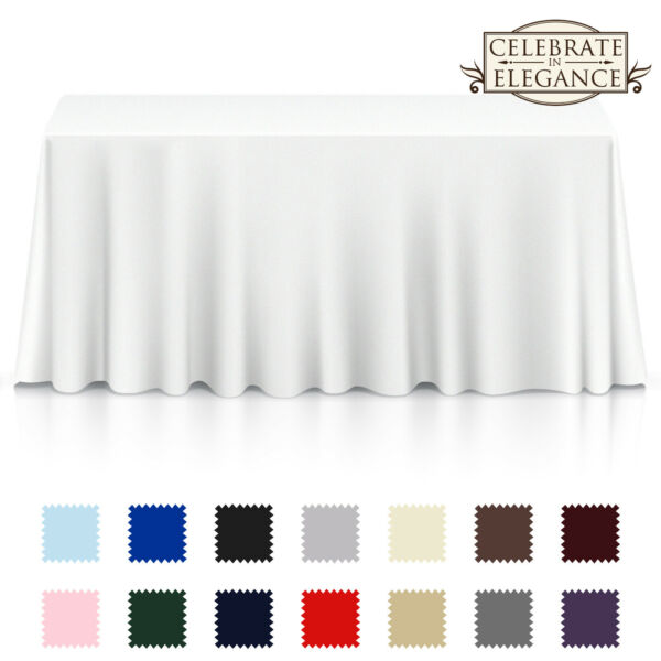 Rectangular Wedding Banquet Polyester Fabric Tablecloth Many Colors amp; Sizes
