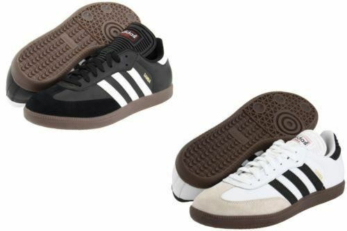 Adidas Samba Indoor Soccer Shoes Men Size White 772109 - Black 034563 NEW in Box