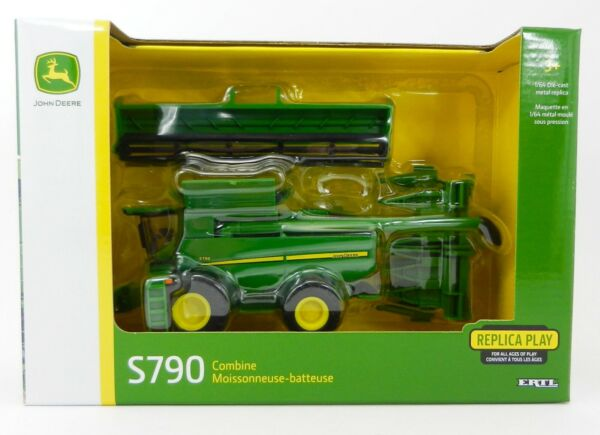 2018 ERTL 1:64 JOHN DEERE Model S790 COMBINE w GRAIN amp; FOLDING CORN HEAD *NIB*