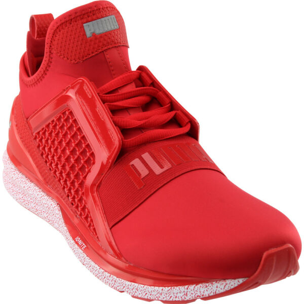 Puma Ignite Limitless Snow Splatter Sneakers - Red - Mens