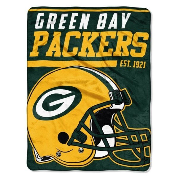 New NFL Green Bay Packers Soft Micro Rasche Large Throw Blanket 46