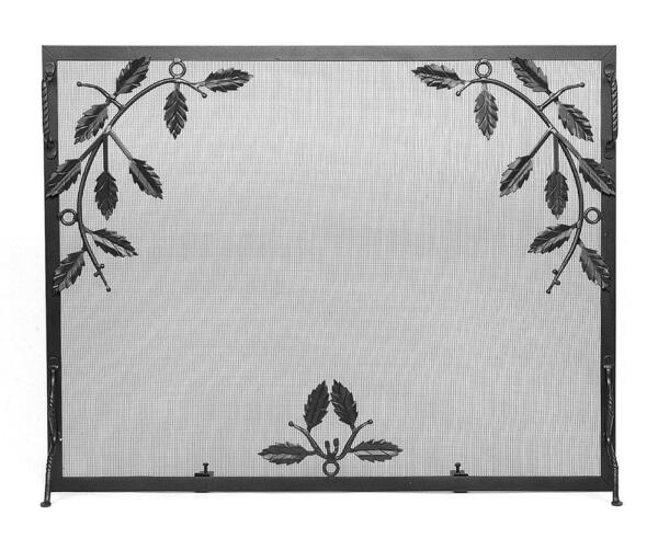 Achla Minuteman Weston Fireplace Fire Screen with Leaf Motif G-3830