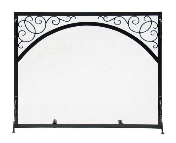 Achla Minuteman Sterling Fireplace Fire Screen Scroll & Arch GS-4433