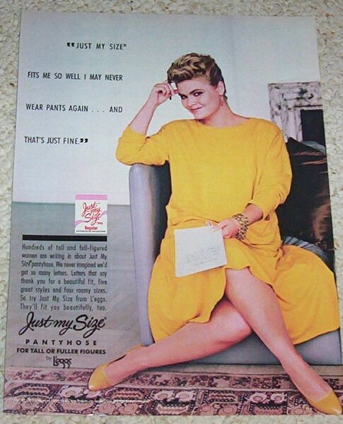 1987 print ad - L'eggs Just My Size Pantyhose hosiery SEXY Girl vintage ADVERT