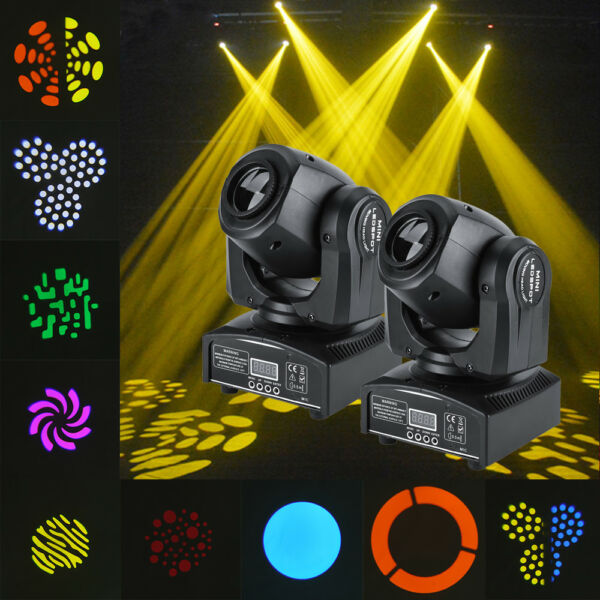 2PcsSet Stage Light Fixture 30W RGBW Beam Spot Moving Head DMX512 Strobe Party