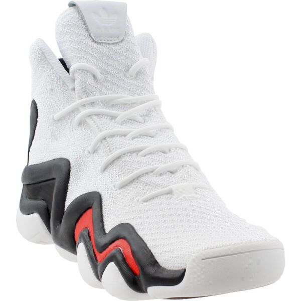 adidas Crazy 8 Adv Primeknit Sneakers- White- Mens