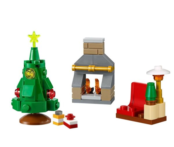 LEGO Holiday Minibuild - Santa's Chair Fireplace & Xmas Tree Combo (Set 60155)