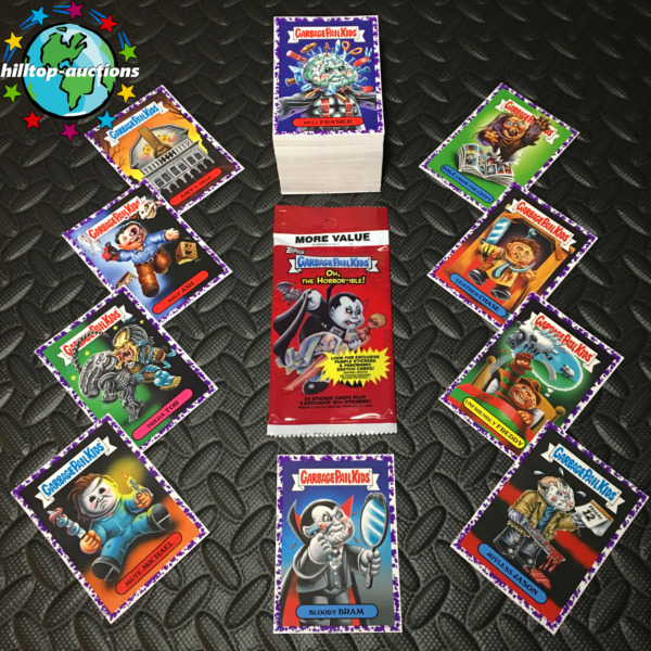 PURPLEJELLY GARBAGE PAIL KIDS OH THE HORROR-IBLE COMPLETE 200-CARD SET 2018