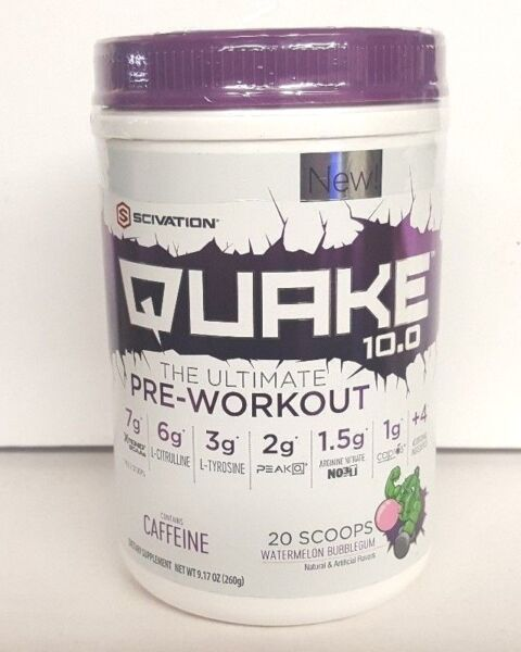 Scivation Quake 10.0 Pre-Workout Supplement In Watermelon - 20 Servings