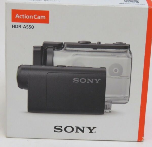 Sony Action Cam Camera HDR-AS50 Waterproof HD Flash Memory Camcorder - Black