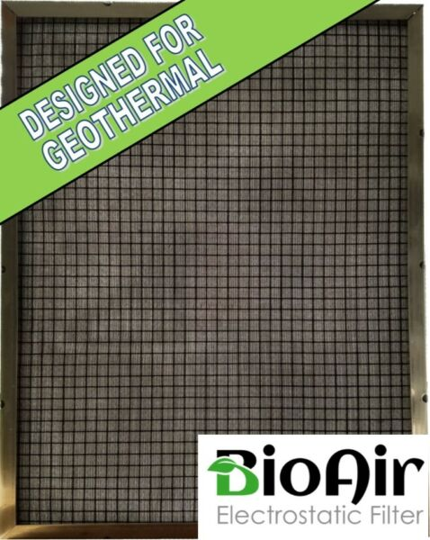 27 5 8 x 27 5 8 x 1 BioAir Permanent Washable A C Furnace Filter Geothermal $119.99