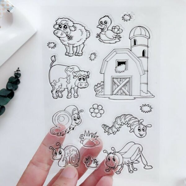 Transparent Stamps Snails Bee Cattle for Scrapbooking DIY Silicone Seal Photo $2.99