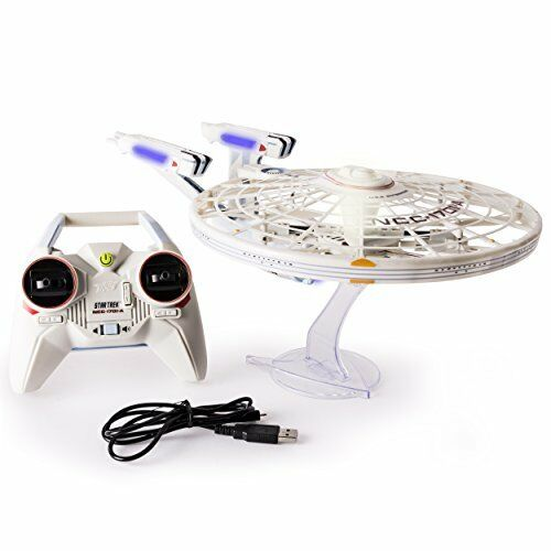 Air Hogs Star Trek U.S.S Enterprise NCC-1701-A Remote Control Drone with Ligh...