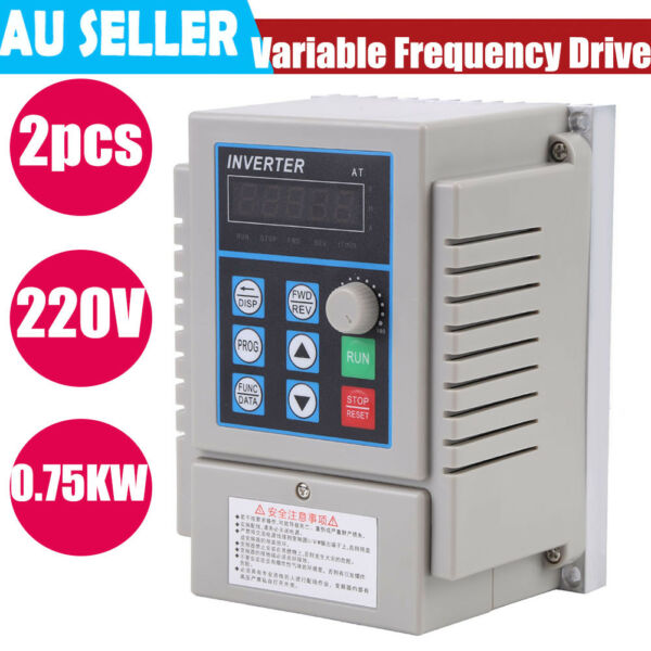 VARIABLE FREQUENCY DRIVE INVERTER VFD 0.75KW 1HP 220V 5A FOR CNC