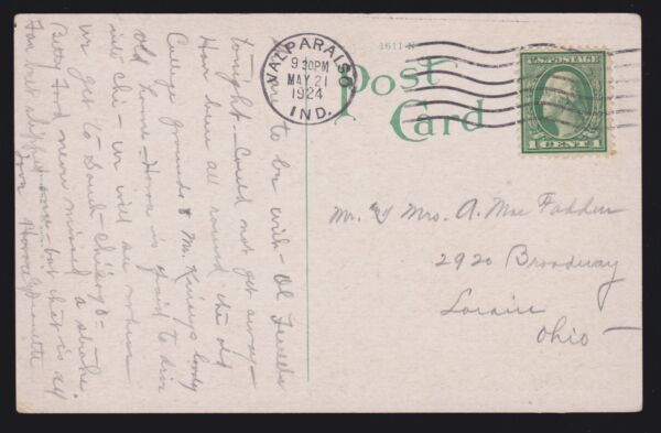 US 544 1c WF Perf 11 Rotary Waste on Picture Postcard w PFC Cert VF SCV $7500