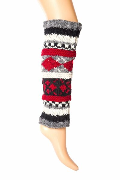 Hand-Knit Wool Leg Warmers  Boot Toppers