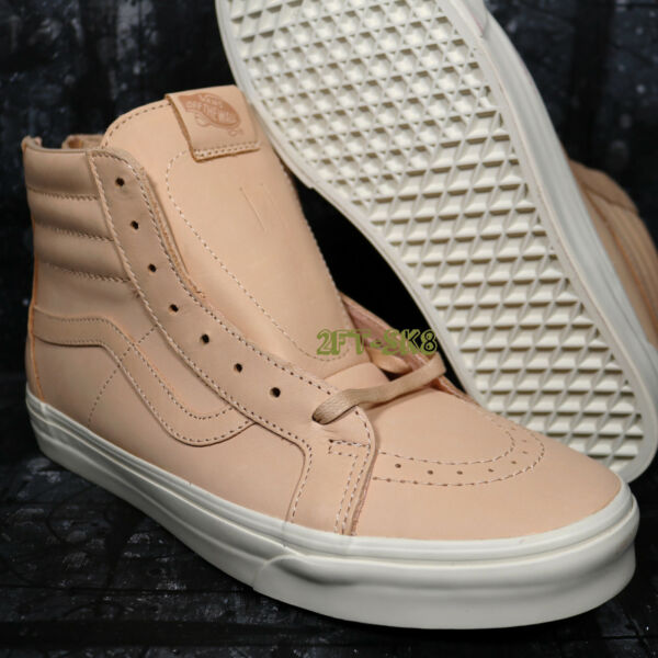 VANS SK8 HI VEGGIE TAN LEATHER MEN'S HIGH TOP SKATE SHOES /8A155.132