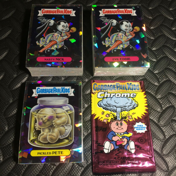 GARBAGE PAIL KIDS CHROME 1 COMPLETE 110-CARD ATOMIC REFRACTOR SET +WRAPPER 2013