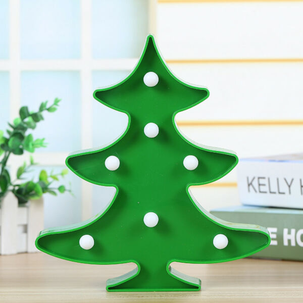 Home Decors 3D LED Night Light Nursery Kids Bedroom Green Plant Wall Table Lamp