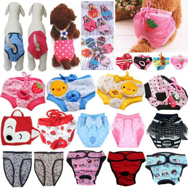 Pet Dog Physiological Pants Diaper Panties Underwear for Female Dog Washable Lot $10.24