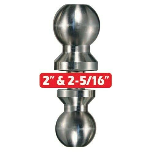 Trimax Chrome Double Sided Trailer Hitch Tow Ball 2quot; amp; 2 5 16quot; Towing Receiver $29.99